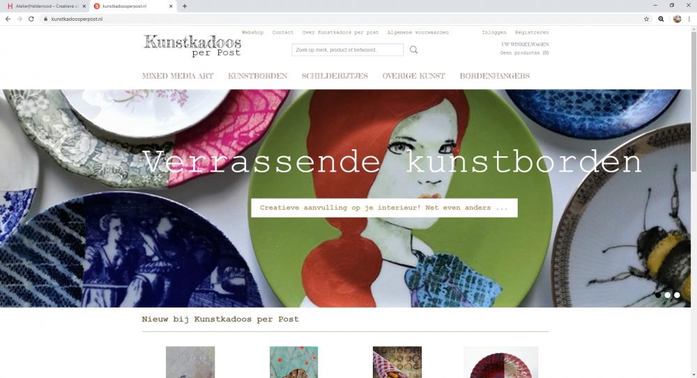 Kunstkadoos per post Webshop Kunstkadoos per post