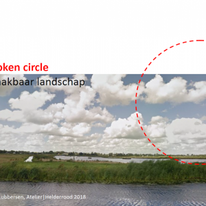 Broken circle,  Maakbaar landschap