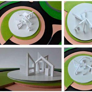 Twee ontwerpen voor rotonde Bargeres